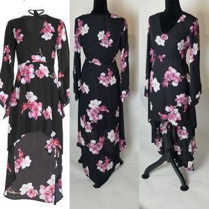 Venus High Low Print Dress